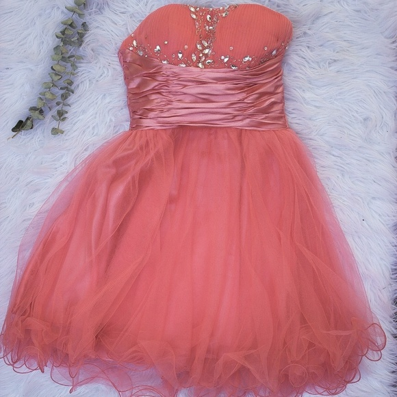 A Formal Choice Dresses Coral Short Formal Dress Poshmark